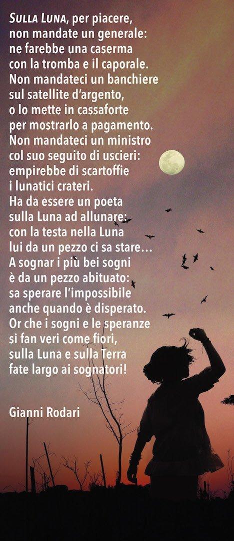 Gianni Rodari, Sulla luna