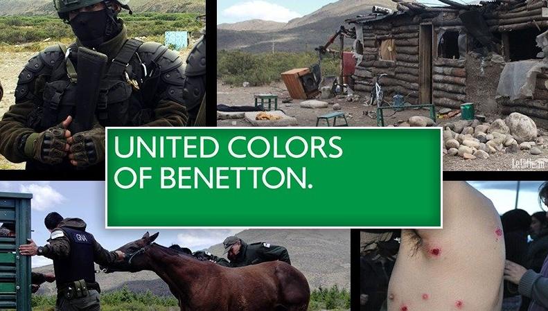 The dark color of Benetton
