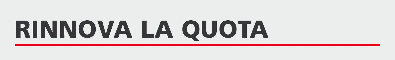 Rinnova la quota associativa