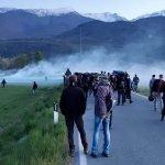 Nebbia in Val Susa: tra sassi e manganelli